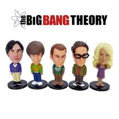 The Big Bang Theory: Kit com 5 mini Bobble Heads (edição limitada Comic Con 2012) - Funko
