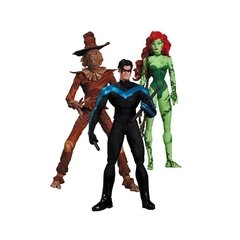 Batman Hush: Nightwing, Poison Ivy e Scarecrow pack com 3 Figuras de Ação - DC Collectibles