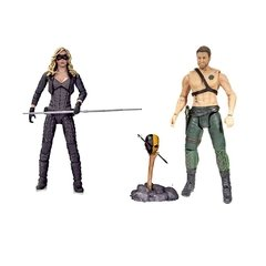 Arrow (Série de TV): Oliver Queen e Black Canary (Can_rio Negro) Figuras de A?_o - DC Collectibles