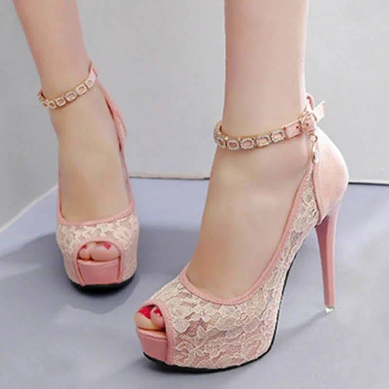 3e137351f7 Sapato Feminino Salto Alto Fino Noiva Casamento