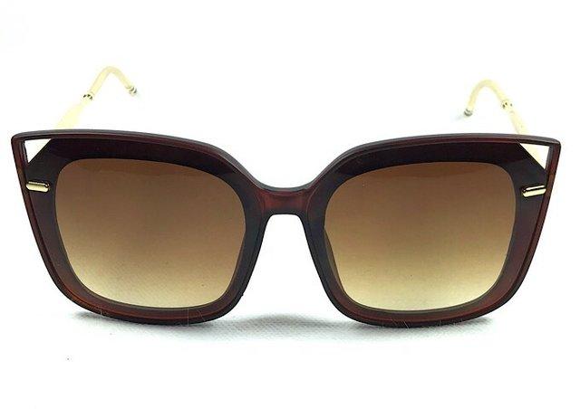 Óculos de Sol Adulto Feminino Claudine Marrom 39962c9047