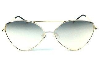 Óculos de sol adulto feminino dourado com branco espelhado rosê 392dbe7357