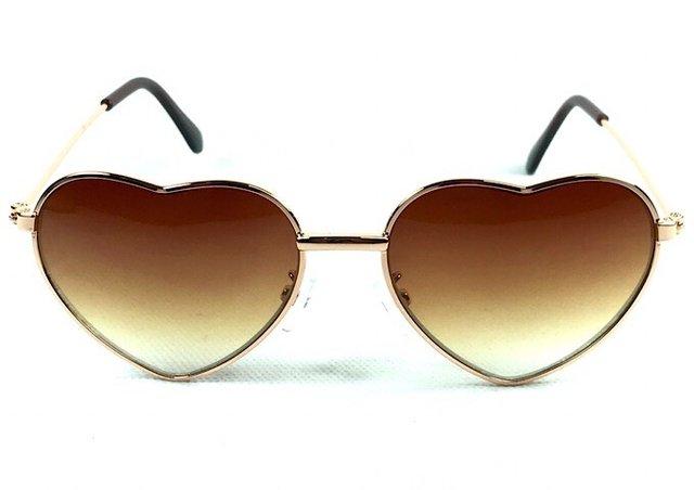 Óculos Coração Fashion Marrom - Óculos Marinos dcfecb82bc