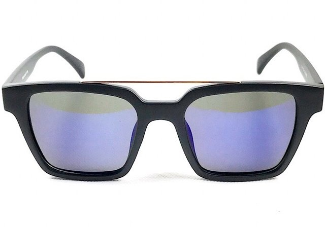 a5ceafb80b86e Óculos Masculino Preto Fosco Lente Espelhado Flash