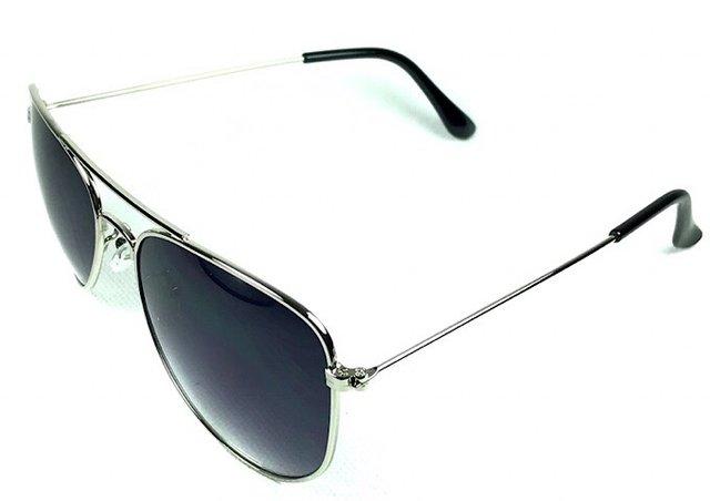 c31b4d73c ... Óculos de Sol Aviador Adulto Prata Lente Fumê - comprar online ...