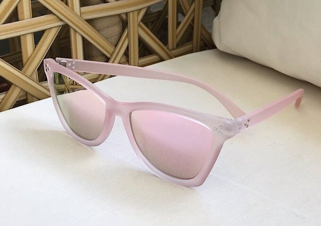 eb407b5113946 ... Óculos de sol adulto feminino rosa espelhado na internet ...