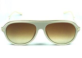 Óculos de Sol Aviador Adulto Creme na internet 45b780f944