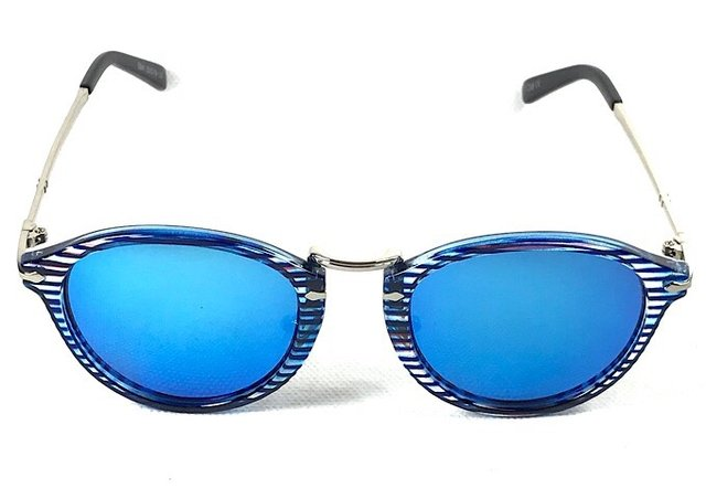 a27af25ac5627 Óculos de Sol Adulto Feminino Espelhado Azul
