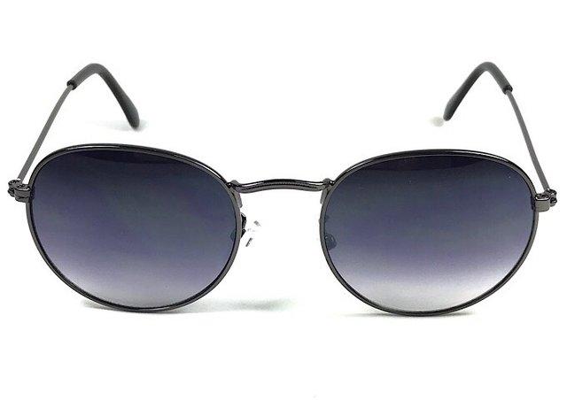 560c99831 Óculos de Sol Adulto Cloe Prata Velha Lente Fumê Degradê