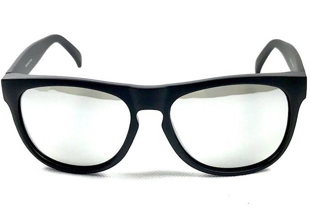 75bb9de874a27 Óculos Masculino Preto Fosco Espelhado Flash