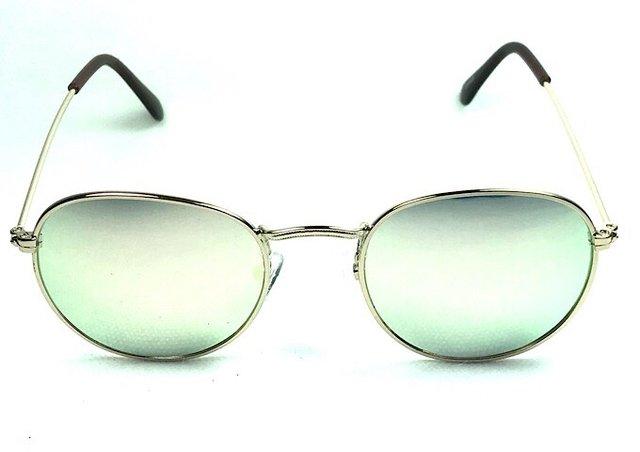 875a986ee Óculos de Sol Adulto Feminino Cloe Redondo Espelhado