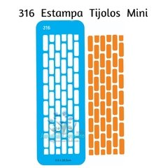316 - Estampa Tijolos Mini