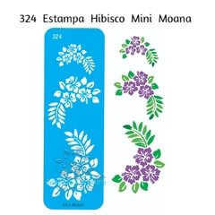 324 - Estampa Hibisco Mini Moana