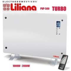 Vitroconvector  de pie/pared Turbo luxe vidrio curvo (CCPPV500)
