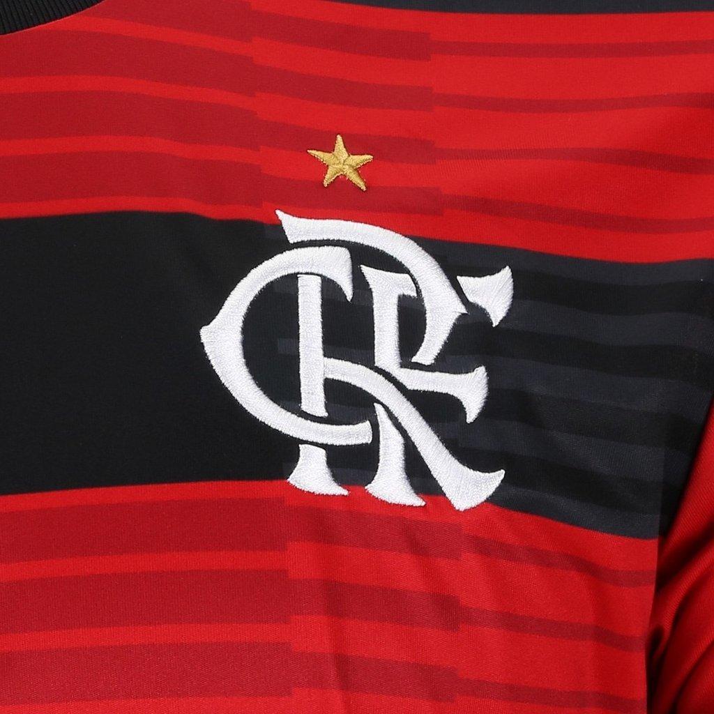 0ef32023b5 Camisa Flamengo I 2018 s n° Torcedor Adidas Masculina - Vermelho e Preto ...