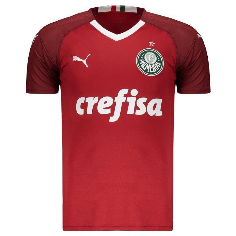 a84f07153b Camisa de Goleiro Palmeiras III 19 20 - Torcedor Puma Masculina - Vinho