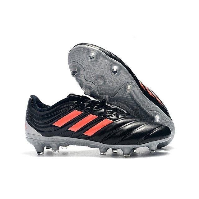 Chuteira Adidas Copa 19.4 FG Preto Prata Logo Laranja c48344cbf01bb