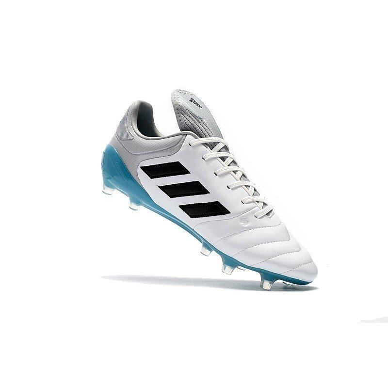 d734e3ffa3 Chuteira Adidas Copa Mundial 17.1 FG Branco Cinza Sola Azul
