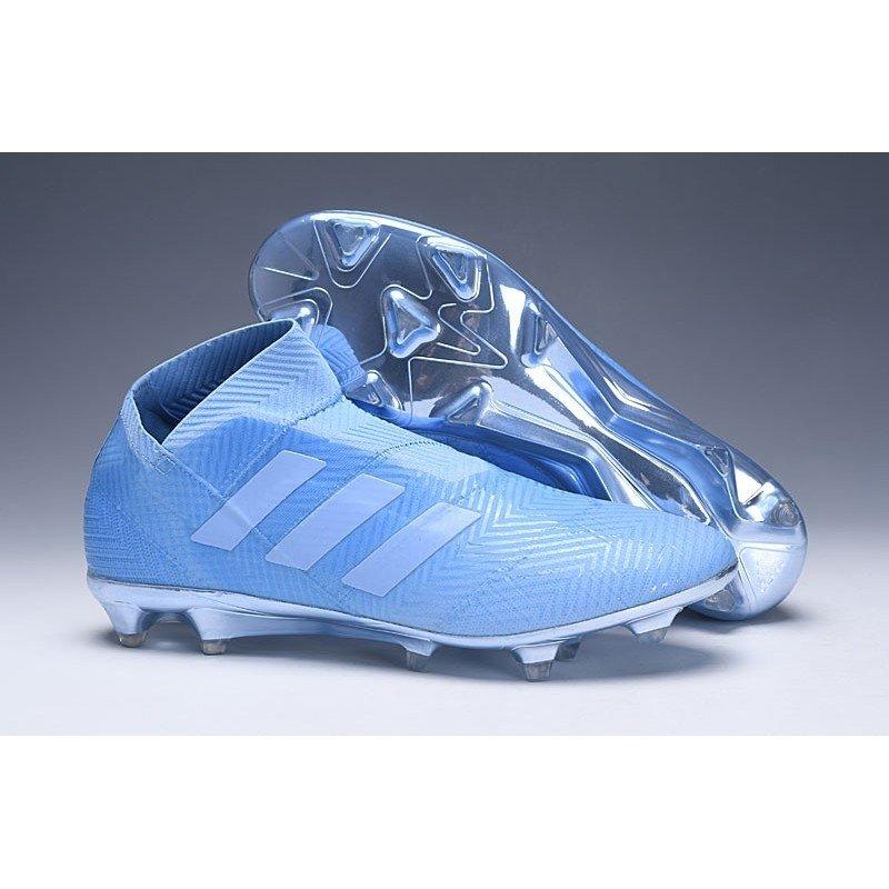 835082064c Chuteira Adidas Nemeziz 18 Azul-Claro - BNV MAGAZINE