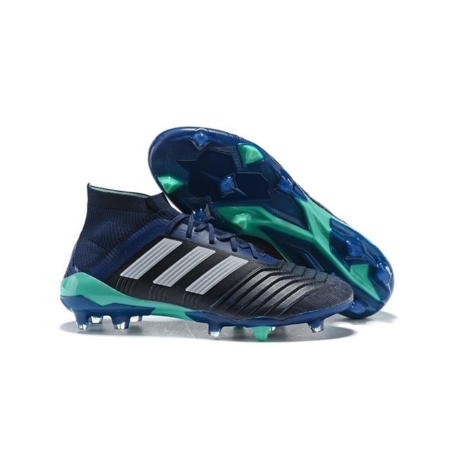 6b3dd5701e Chuteira Adidas Predator 18.1 Control FG Azul-Escuro Azul-Claro