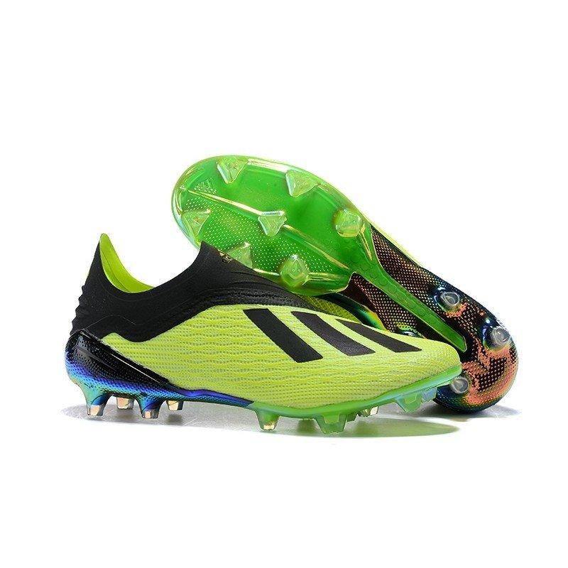 Chuteira Adidas X 18+ FG Amarelo Preto - BNV MAGAZINE dea406d306820