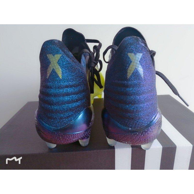Chuteira Adidas X 18.1 Amarelo Preto com Pontos Pretos d9f277aefcef1