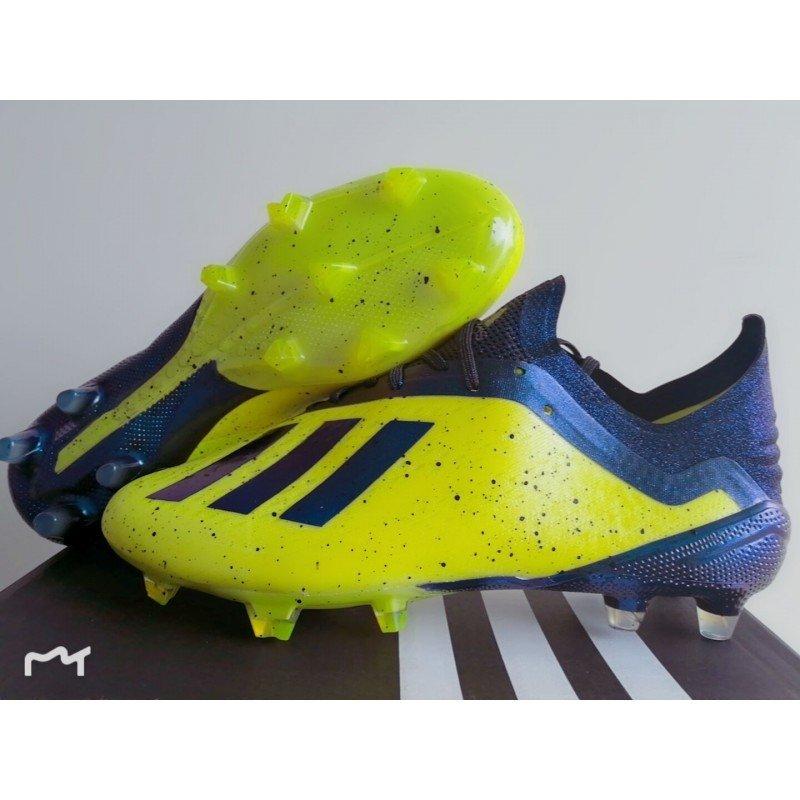 9f9772f07a Chuteira Adidas X 18.1 Amarelo Preto com Pontos Pretos
