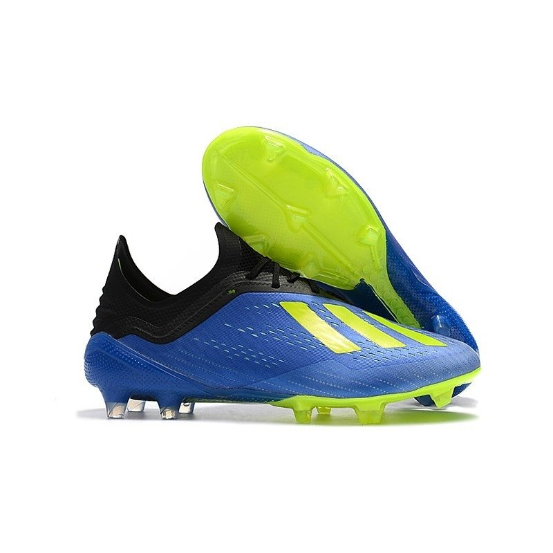 Chuteira Adidas X 18.1 Azul Logo Verde - BNV MAGAZINE 6c01c60149589