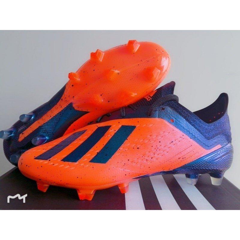 961ce6e361 Chuteira Adidas X 18.1 Laranja -Escuro Logo Preto