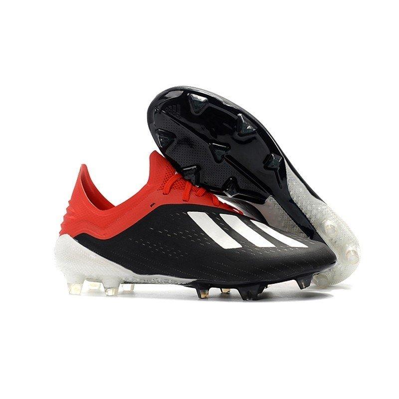 7c5be585f5 Chuteira Adidas X 18.1 Preto Vermelho Logo Branco