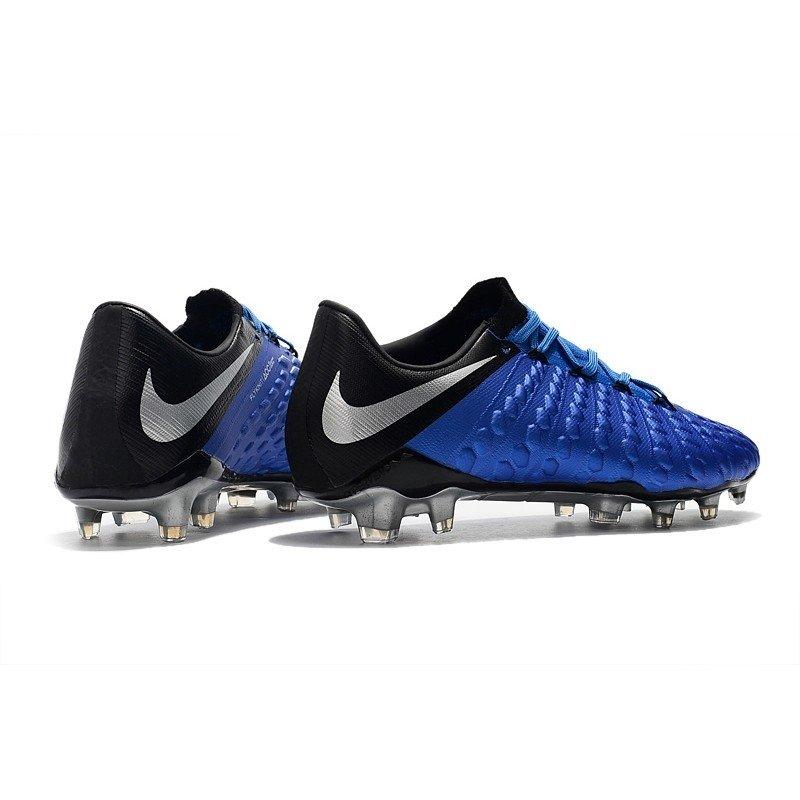 c3d5277aa2381 Chuteira Nike Hypervenom Phelon III Low FG Azul Preto Cinza