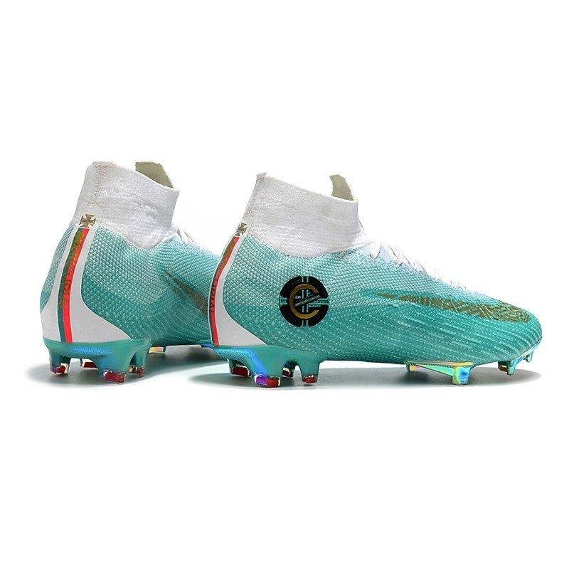 sports shoes 4f8f7 bed49 Chuteira Nike Mercurial Superfly 360 Elite FG Azul/Branco CR7