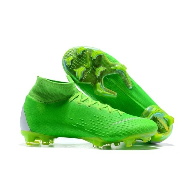 9d7d339f82 Chuteira Nike Mercurial Superfly 360 Elite FG Verde Calcanhar Verde