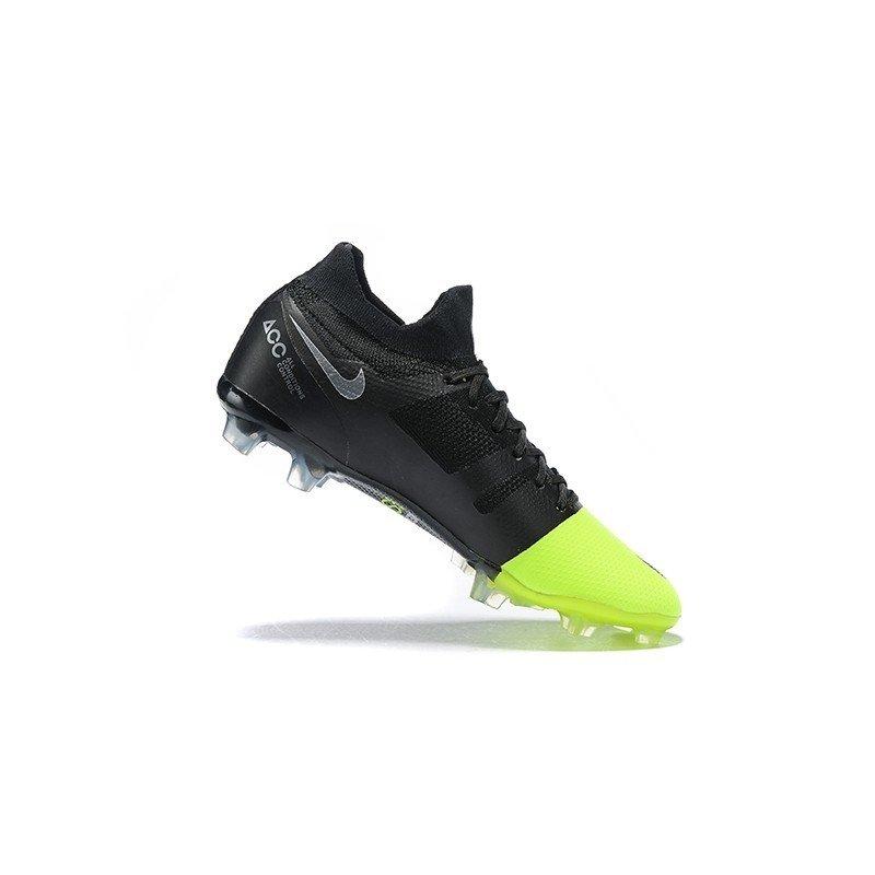 5396f3ca4cbc9 Chuteira Nike Mercurial GS 360 FG Preto/Ponta Verde-Limão GreenSpeed. 1