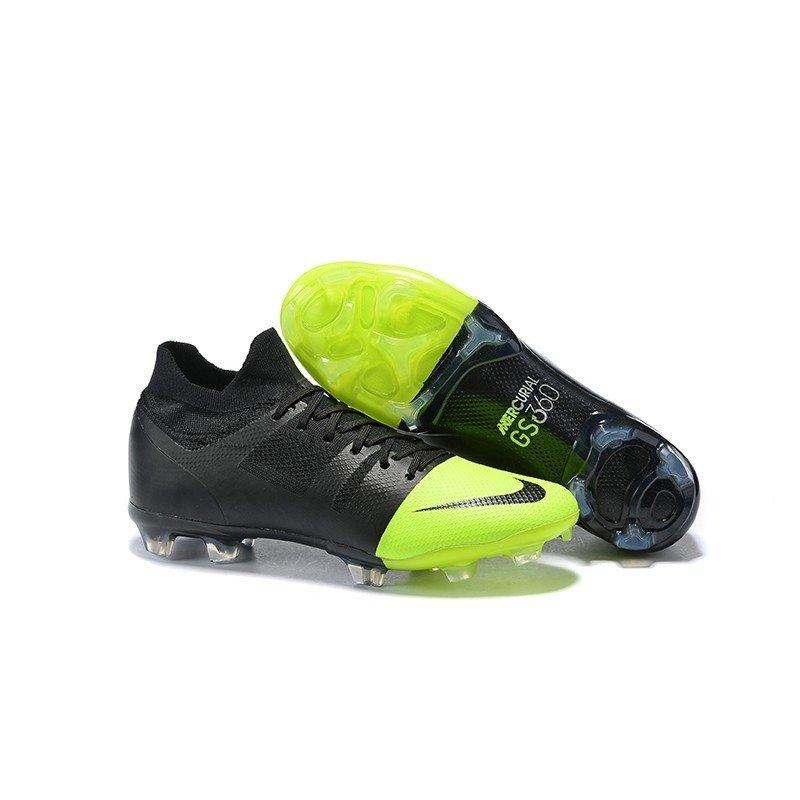 156e3860ea0e8 Chuteira Nike Mercurial GS 360 FG Preto/Ponta Verde-Limão GreenSpeed