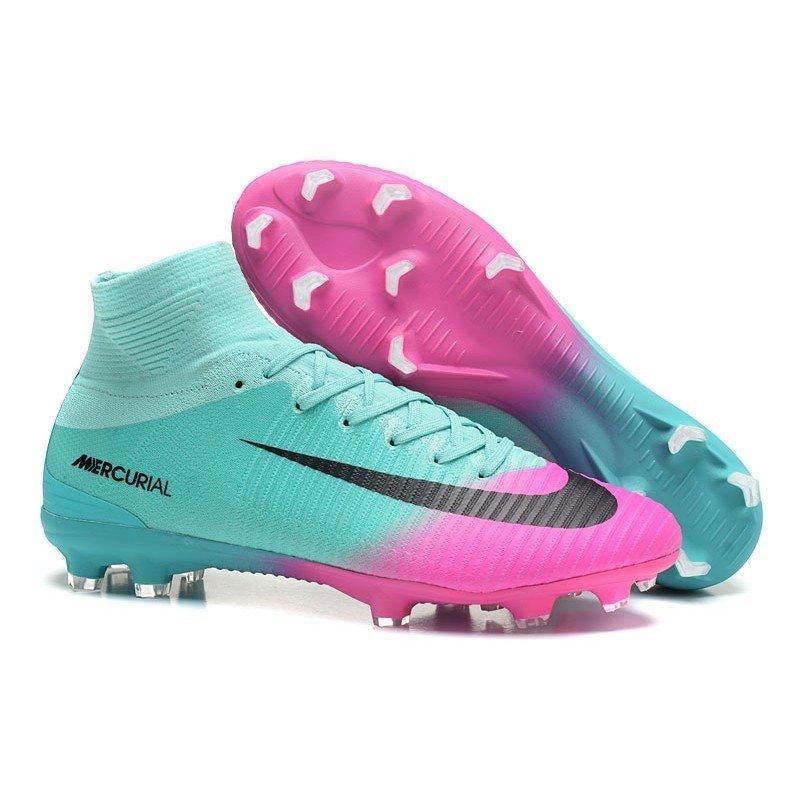 cd1b98afbb Chuteira Nike Mercurial Superfly V Colorida Azul Rosa Preto