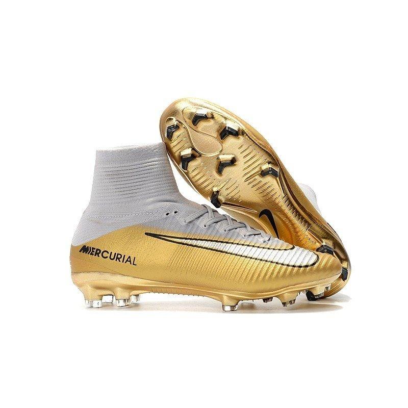 da3afb5bae87a Chuteira Nike Mercurial Superfly V Cr7 Gold 5 Triunfo