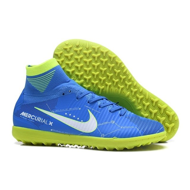 185a83c022 Tênis Nike Society Mercurial Superfly V Neymar Azul-Claro