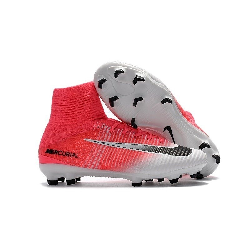 2cf81abdb9ee2 Chuteira Nike Mercurial Superfly V Coral Branco