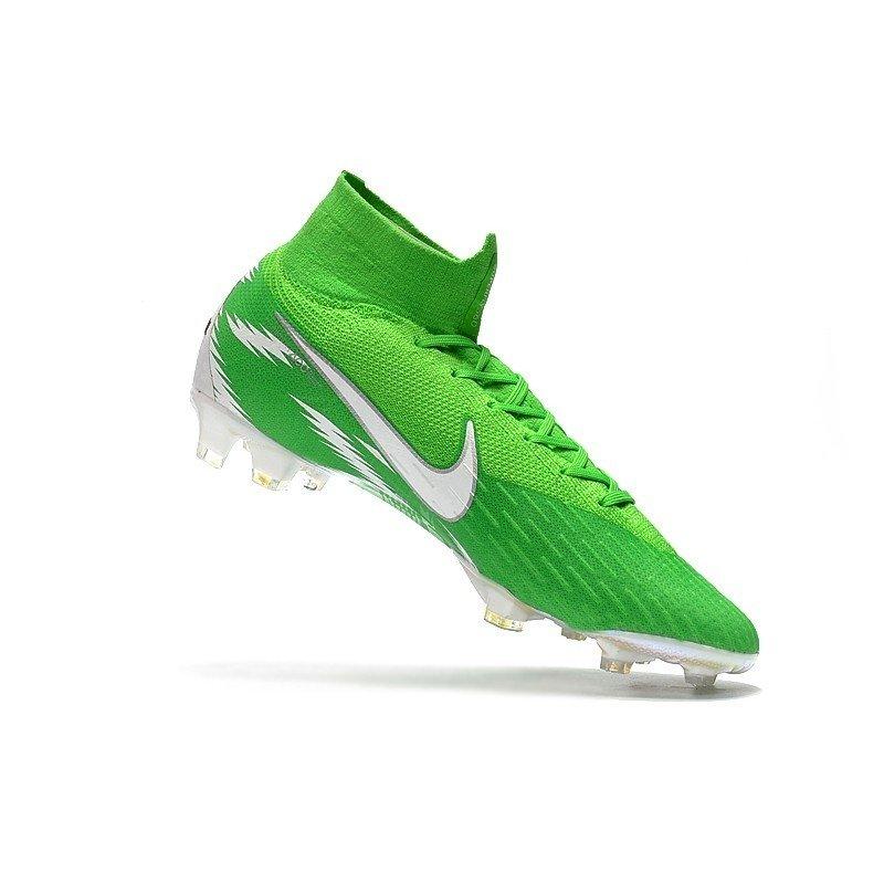 ac83578a97 Chuteira Nike Mercurial Superfly 360 Elite FG Verde-Limao Choque Branco. 1