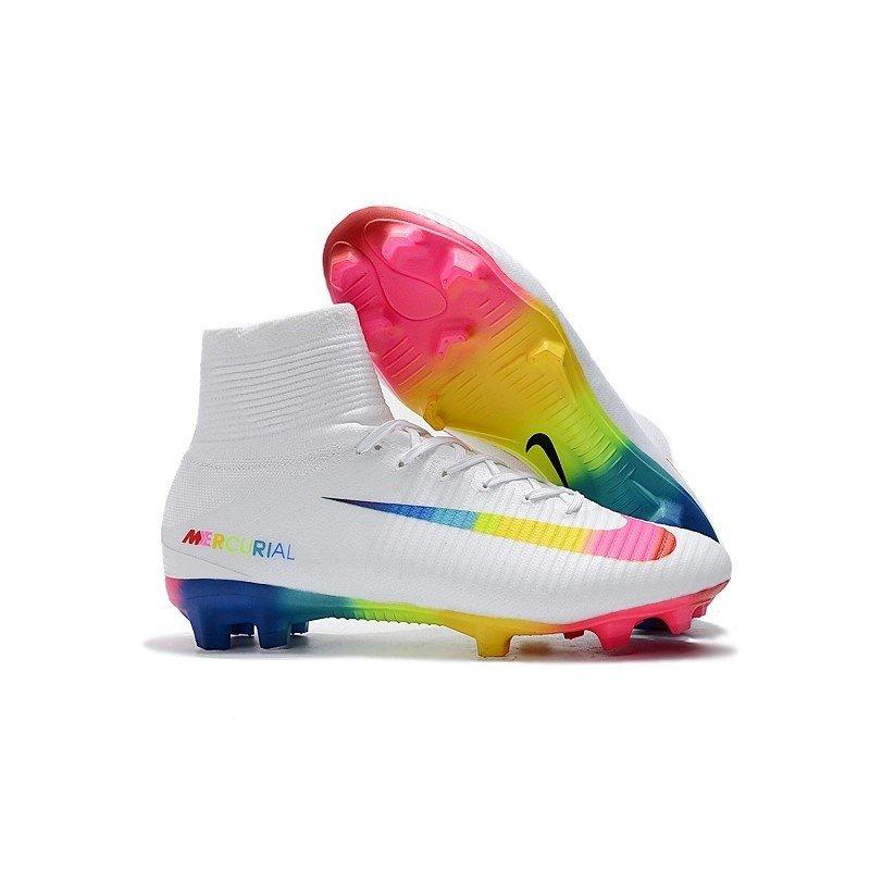 40a437e4dbe75 Chuteira Nike Mercurial Superfly V Branca Colorido Colorida