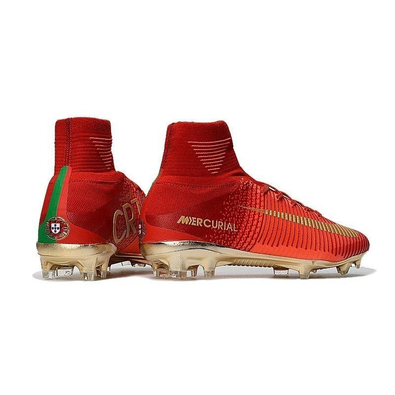 Chuteira Nike Mercurial Superfly V Dourada Vermelha. 0% OFF 07966df8b8ed5