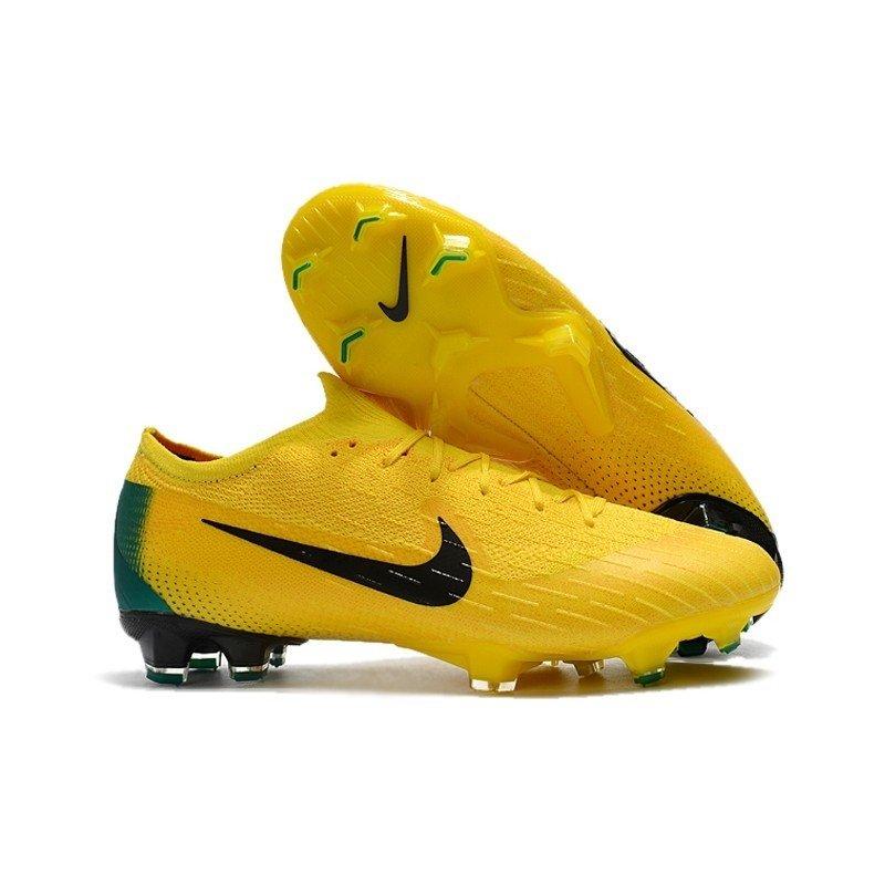be25ed64bb648 Chuteira Nike Mercurial Vapor XII Elite FG Remake 2006 Amarelo/Verde
