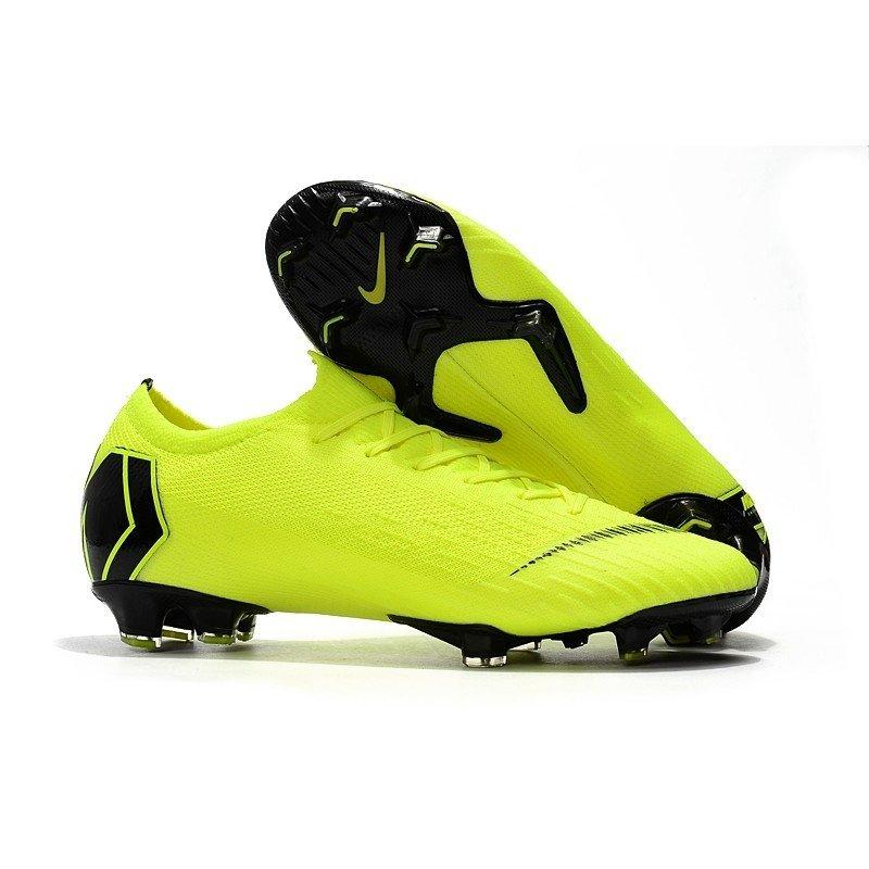 ... Chuteira Nike Mercurial Vapor XII Elite FG Verde-Limão Preto  c3e42a804bee28  Chuteira Campo ... f75875d16aafc