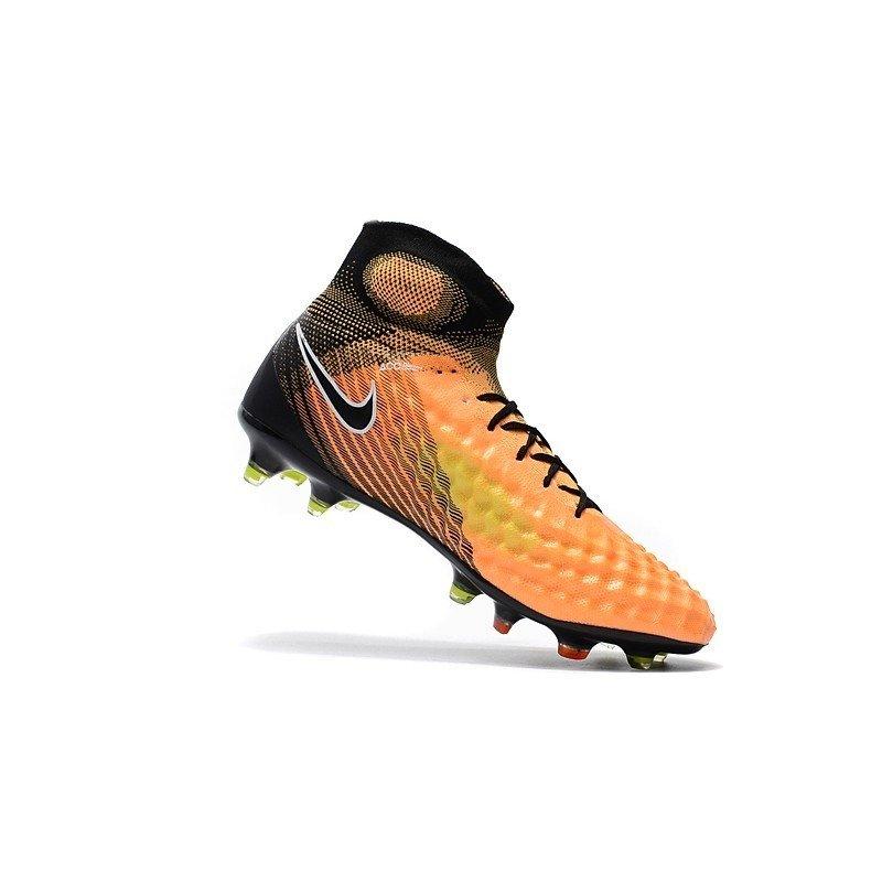Chuteira Nike Obra Magista II Laranja Preto 4eb79ca2216c0