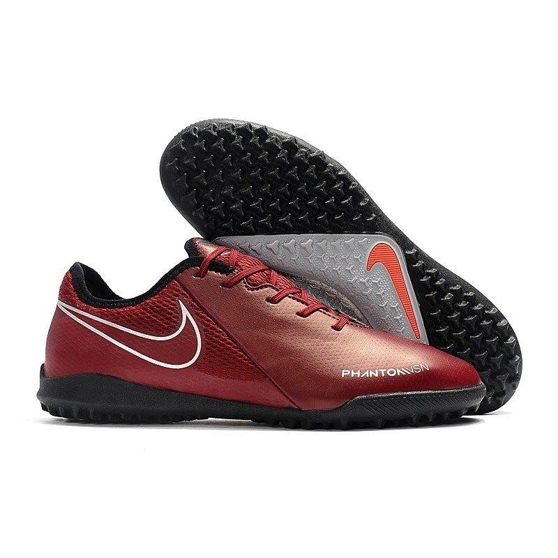 a983a3606b0 Chuteira Nike Phantom Vision Elite Society Vermelho Escuro/Logo Preto  Contorno Branco