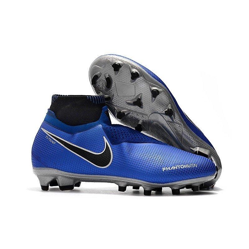 0b3675e99c9f6 Chuteira Nike Phantom Vision Elite FG Azul/Branco/Prata