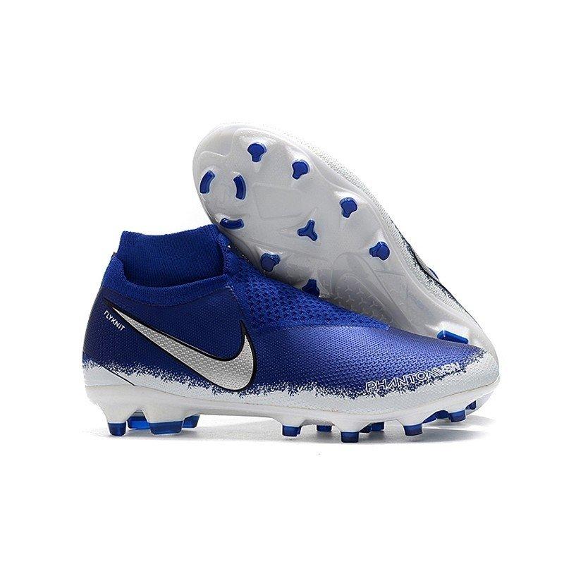 77d85ac666cd0 Chuteira Nike Phantom Vision Elite FG Azul/Logo Preta