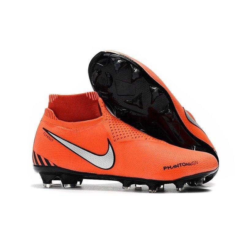 3337566c75581 Chuteira Nike Phantom Vision Elite FG Laranja/Prata