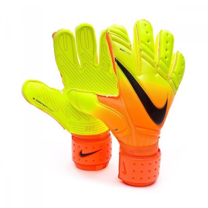 029f794652a1f Luva Nike Premier SGT Laranja/Verde/Logo Preta